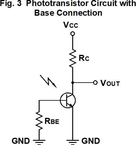 Phototransistor Circuit wth Base Connection